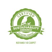 Tat Ming Flooring eco logo ECO-FRIENDLY NSF ANSI 140 carpet